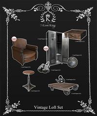Vintage Loft Set (Haytch0) Tags: life set loft vintage lost king sl secondlife second product gacha haytch