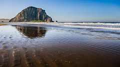 Morro Bay - III - The Morning After (ḆΞ₪¡) Tags: ocean california beach canon landscape bay waves angle pacific wide sigma wideangle roadtrip ripples morrobay morro morrorock 30d 2013