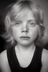 After the bikeride (Dalla*) Tags: boy portrait white black fall bike nose kid hurt ride wwwdallais
