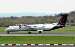 """G-ECOI DHC-8Q 402 Flybe Brussels Airlines MAN 19-04-15 (PlanecrazyUK) Tags: man manchester ringway egcc flybe airport"""" brusselsairlines dhc8q402 """"manchester gecoi"""