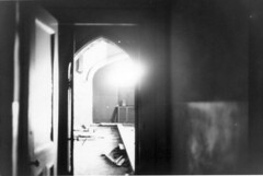 Sacred Heart: View into Church from Rectory Hallway (CityOfDave) Tags: church catholic gothic urbanexploration urbanruins rooseveltisland romancatholic abandonedbuilding sacredheart rectory abandonedchurch welfareisland metropolitanhospitalromancatholicchurch
