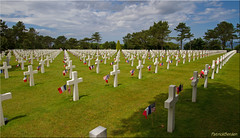 Normandy cemetery at Omaha Beach [Explored] (Patrick Berden) Tags: france worldwarii omahabeach warcemetery 2015