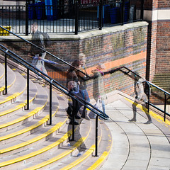 Fri 29-May (149 / 365 / 2015) - Ghostly shoppers (Steev McAlister) Tags: building day steps structures architectural event 365 items dates edition 149 multiexposure day149 edifice edifices 2015 149365 substructures day149365 365the2015edition 3652015 29may15
