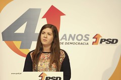 Margarida Balseiro Lopes na comemoração do aniversário do partido, Distrital de Leiria