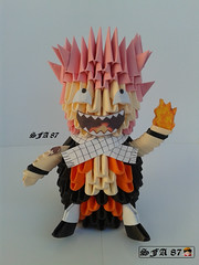 Natsu Fairy Tail Origami 3d (Samuel Sfa87) Tags: anime happy lucy origami crafts tail craft fairy sfa block gilda natsu fairytail blockfolding origami3d sfaorigami sfa87