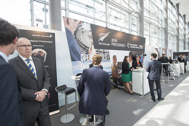 Attendees at the New Zealand Presidency stand