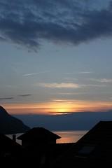coucher de soleil sur le Lman (Juste un Clic) Tags: sunset sky sun france airplane photography switzerland soleil photographie suisse ciel avion coucherdesoleil valais hautesavoie stgingolph saintgingolph justeunclic