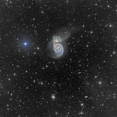M51 widefield (with nebulosity) (Daniele Malleo) Tags: stars astrophotography astronomy m51 astrophoto nebulosity