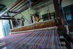 An Ocean of Thread (www.WeAreHum.org) Tags: wood school nepal feet for women mechanical arts textile gandhi kathmandu winds weaving loom ashram tulsi threads shuttles bobbins sowing