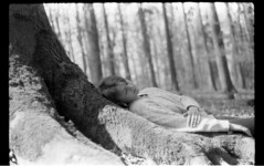(Rena Rabov) Tags: trees white black love nature girl analog fairy praktica elves bc1