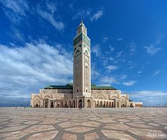 Hassan II Mosque, Casablanca, Morocco (Abhi_arch2001) Tags: monument architecture king grand mosque morocco ii casablanca sultan hassan majestic moroccan islamic mega monumental