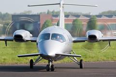 Backtrack (Al Henderson) Tags: england airport unitedkingdom aviation bedfordshire gb piaggio cranfield avanti p180 egtc fhoie