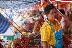 Tropical Fruits Market in Chanthaburi. (baddoguy) Tags: city people food tourism horizontal fruit thailand photography community adult market business durian editorial merchandise agriculture selling variation adultsonly oneperson mangosteen marketstall trader tropicalfruit traveldestinations colorimage smallbusiness onewomanonly readytoeat waistup marketvendor retailoccupation businessfinanceandindustry