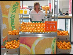 50th IFA convention Berlin german precision (bernardogalun1952) Tags: food orange woman berlin girl shop perfect center clean oranges middle 50th exibition 2010 logic juce ifa simetric gernam