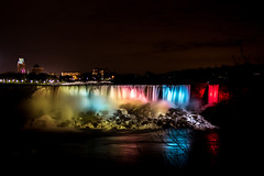 Niagara Falls - American Side (john.vuong) Tags: longexposure nightphotography mist water night lights niagarafalls waterfall waterfront nightscape niagara falls waterfalls slowshutter nightphoto maidofthemist niagaraonthelake niagararegion