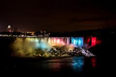 Niagara Falls - American Side (john.vuong) Tags: longexposure nightphotography mist water night lights niagarafalls waterfall waterfront nightscape niagara falls waterfalls slowshutter nightphoto maidofthemist niagaraonthelake niagararegion