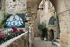 Arch (Esther Spektor - Thanks for 10+ millions views..) Tags: flowers plant window stone wall canon painting israel arch picture historic jaffa pot estherspektor