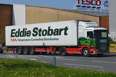 Eddie Stobart Scania L7556 DC12KBX - Widnes (dwb transport photos) Tags: truck scania widnes hgv eddiestobart nancyelizabeth l7556 dc12kbx