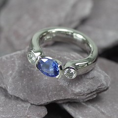 Silver eternity ring with blue sapphire (loxy681) Tags: jewellery ring eternity sapphire