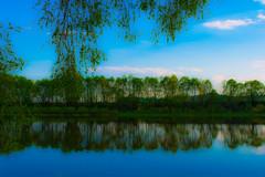 Oka, Kaluga (alexwinger) Tags: blue sky green water river nikon horizont oka kaluga