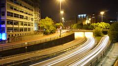 Leeds Inner Ring Road at Night (Alec Paton) Tags: road city longexposure night leeds vehicle lighttrails a58m