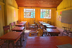 Empty School (funkallen) Tags: school windows san chairs classroom board pedro tables paraguay