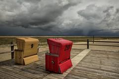 dont turn around (Anne.Berger) Tags: sea beach strand meer northsea nordsee strandkorb stpeterording