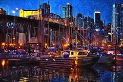 Lady Luck Weights For Morning, Harbor Reflections. (kennethcanada1) Tags: canada vancouver reflections boats harbor kennethcanada