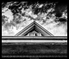 A sort of Eye of Providence (kingappia87) Tags: blackandwhite cloud abstract black reflection window monochrome contrast triangle pentax minimal finestra smcpdal35mmf24al k3ii