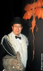 "Super star of IMMORTALIZED, AMC unscripted television series, Dr. Takeshi Yamada & Seara (sea rabbit) stand by his ""Four-winged Dragon"" rogue taxidermy on display at his art exhibition & art fashion show at Pop Up Gallery in New York City on February 7, 2 (searabbits23) Tags: ny newyork sexy celebrity rabbit art hat fashion animal brooklyn asian coneyisland japanese star tv google king artist dragon god manhattan famous goth uma ufo pop taxidermy vogue cnn tuxedo bikini tophat unitednations playboy entertainer oddities genius donaldtrump mermaid amc mardigras salvadordali performer unicorn billclinton hillaryclinton seamonster billgates aol vangogh curiosities sideshow jeffkoons globalwarming mart magician takashimurakami pablopicasso steampunk damienhirst cryptozoology freakshow realityshow seara immortalized takeshiyamada roguetaxidermy searabbit barrackobama ladygaga climategate  manwithrabbit"