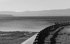 Charla a mediatarde (Viajera Errante) Tags: chile bw lake lago bn personas cerca perspectiva charla villarrica araucana