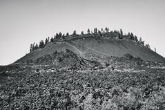 Lava Butte (greghanover) Tags: blackandwhite bw nature monochrome oregon landscape lava blackwhite rocks butte bend outdoor pacificnorthwest lavabutte