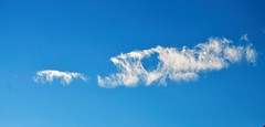 Fish Clouds (howell.davies) Tags: uk blue sky abstract art wales clouds nikon imagination hendy d3200 55200vr