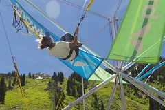 Fly Pretty Snowbird (aaronrhawkins) Tags: fly bird snowbird resort saltlakecity mountain bungee trampoline jump kellie colors vibrant bright sunlight sunshine flip snow summer anniversay aaronhawkins