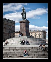 Sunny Stockholm (Jaf-Photo) Tags: sunshine sweden stockholm sony steps royal palace satue 50mmf18 sal50f18 ilca77m2