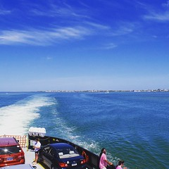 Ferry from Hatteras to Ocracoke, last island of OBX. #TheWorldWalk #obx #ocean #nc #travel #sky
