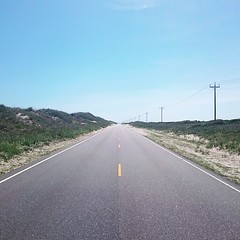There ain't nothing here. Rt.12 on Ocracoke Island. #theworldwalk #NC #obx #sky #island #beach
