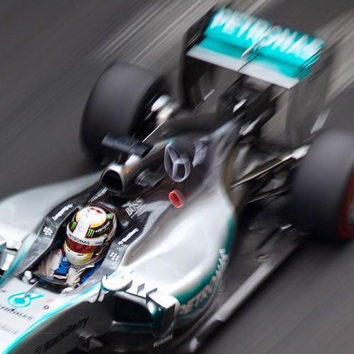 Oh Lewis it started so well ... @mercedesamgf1 @lewishamilton #MonacoF1 #MonacoGP