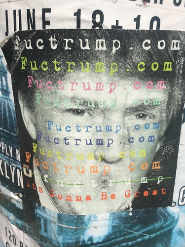Anti-Trump poster, NYC