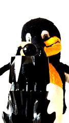 14 I see you!   Ich sehe dich! (jensfechter) Tags: nerd thing lord ring lotr elements stuffedanimal lordoftherings enter penguine pinguin softtoy plushtoy stofftier penguinfriday penguinefriday
