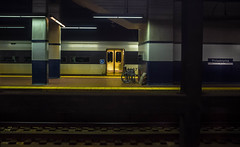 A Train Is Waiting (veyoung52) Tags: philadelphia train gold doors wheelchair platform trainstation passenger 30thststation newjerseytransit