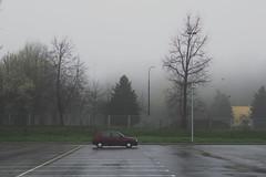 ruby golf (maciej.zdun) Tags: mist car fog vw golf spring parking poland ruby rzeszw