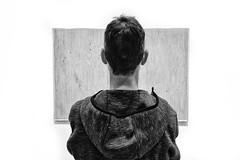 Textures (DmitryXT1) Tags: newyork man art texture hair hoodie artwork museumofmodernart textures freckles textural