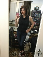 Cowl-neck Sweater and Jeans (SecretJess) Tags: girls girly cd femme tgirl lgbt transvestite casual trans crossdresser crossdress gurl tg bigender genderfluid girlslikeus