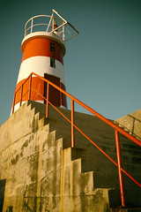 Red and White (justinhannaford) Tags: red lighthouse white portugal fuji algarve sagres x100t