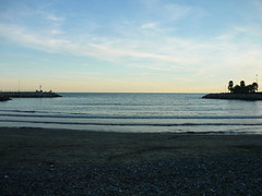 Beach Sunset (SixthIllusion) Tags: travel winter sunset sea italy beach marina seaside liguria diano