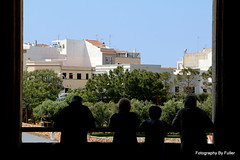 180. Tourists admiring the view. Ciutadella de Menorca. 18-May-16. Ref-D119-P180 (paulfuller128) Tags: travel sun holiday de island menorca ciutadella balearic