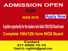 NIOS 10th 12th (MGITI) Tags: for open 10th admission 2016 nios admisson