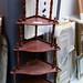 Mahogony corner shelf