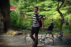 Masa (Nihon Zaichuu Scotto) Tags: park man japan cycling shrine ninja son lad omiya